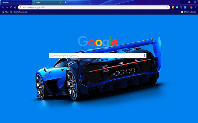 Custom Bugatti Vision Chrome Theme