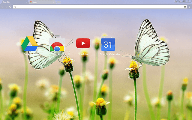 Butterfly Heaven Chrome Theme