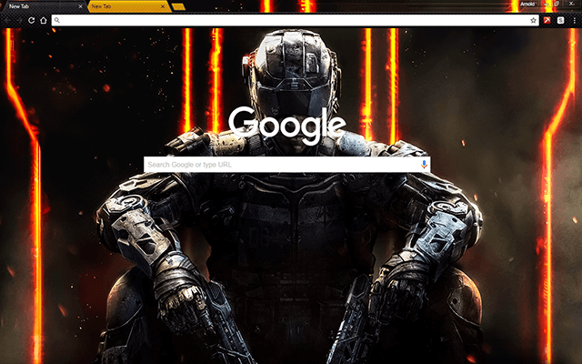 Call of Duty Black Ops 3 Google Theme