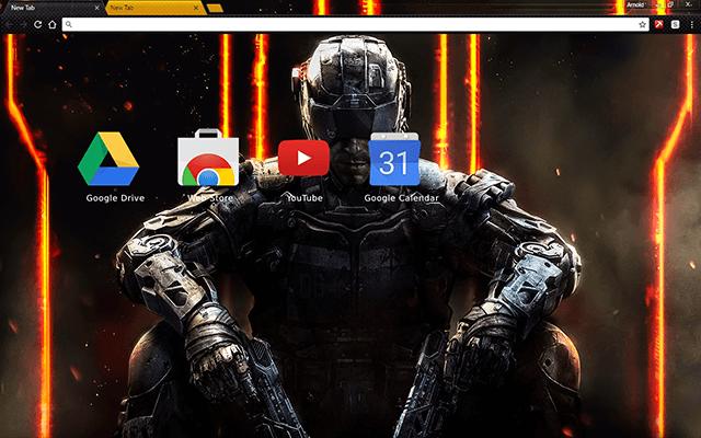 Call of Duty Black Ops 3 Chrome Theme