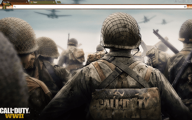 Call Of Duty WWII Google Chrome Theme
