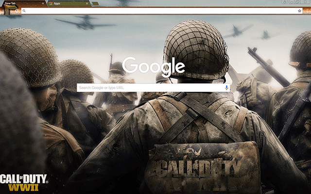 Call Of Duty WWII Google Chrome Theme