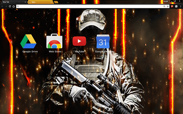 Call Of Honor Chrome Theme