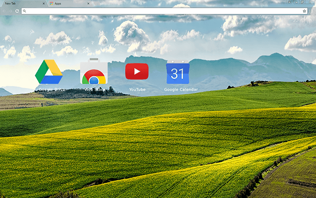 Canola Fields Chrome Theme