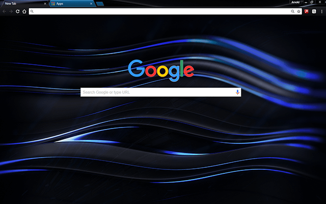 Chromatic Blue Chrome Theme