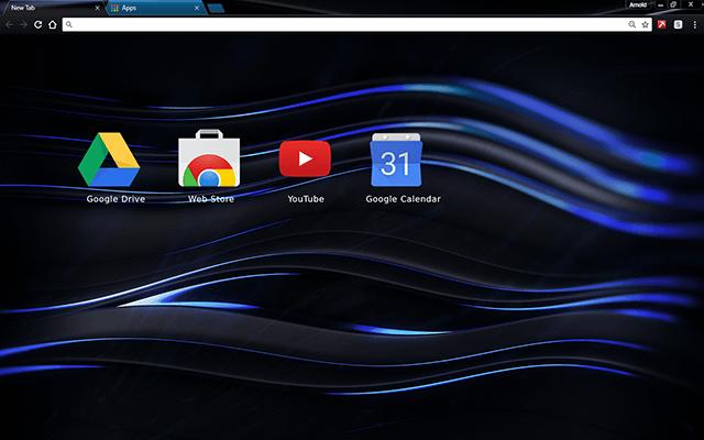 Chromatic Blue Chrome Theme