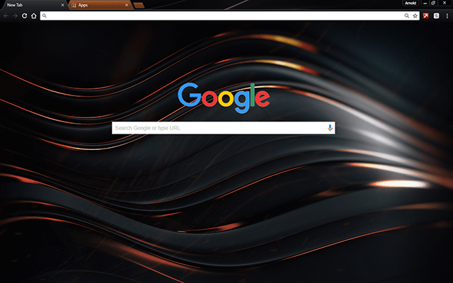Chromatic Copper Google Theme