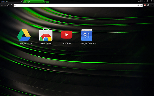 Chromatic Green Chrome Theme