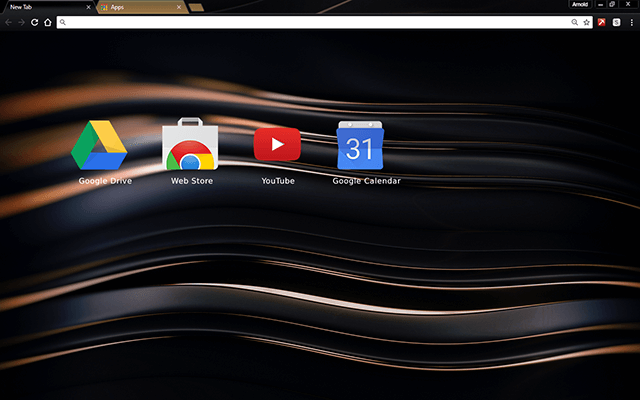 Chromatic Nickel Google Chrome Theme