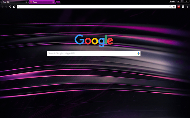 Chromatic Purple Google Chrome Theme