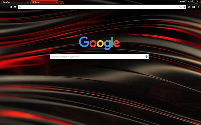Chromatic Red Google Theme
