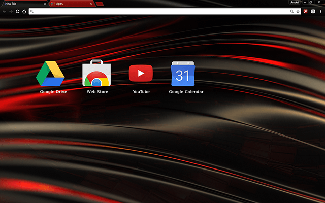 Chromatic Red Google Chrome Theme