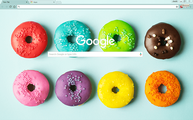 Colorful Donuts - Google Homepage