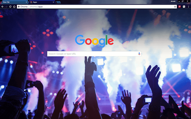 Dance Club - Google Homepage