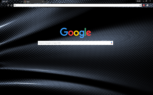 Dark Fiber Google Chrome Theme