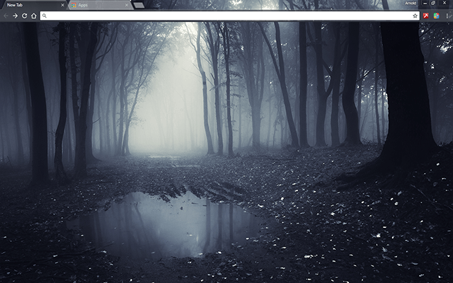 dark forest google chrome theme for download