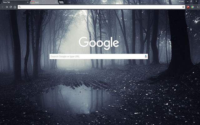 Dark Forest Google Chrome Theme