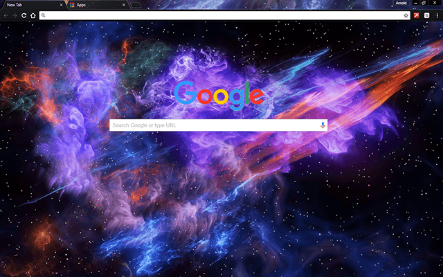 Deep Space Google Chrome Theme