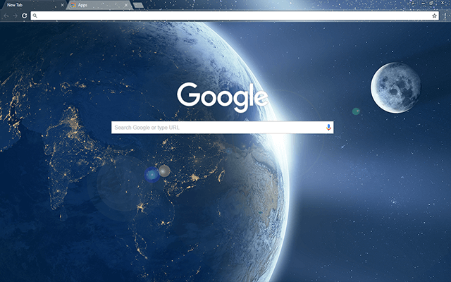 Earth From Space Google Chrome Theme