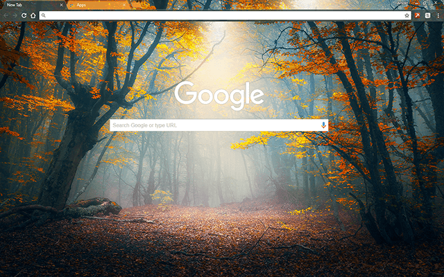 Enchanted Forest - Google Homepage