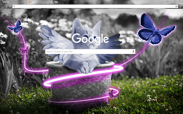 Fairy Kitten Google Chrome Theme
