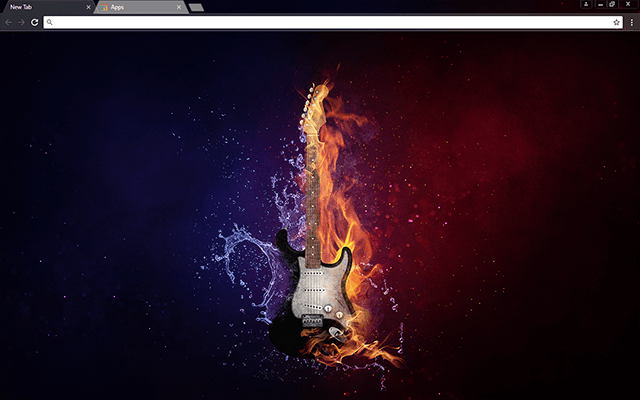 Flaming Guitar - HD Background