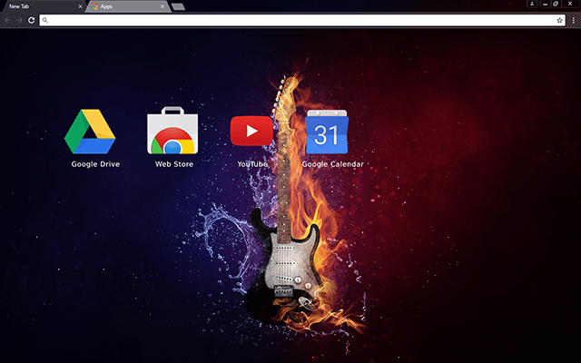 Flaming Guitar - Web Apps