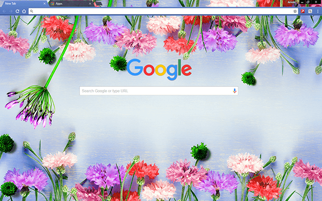 Flowers Bloom Google Chrome Theme