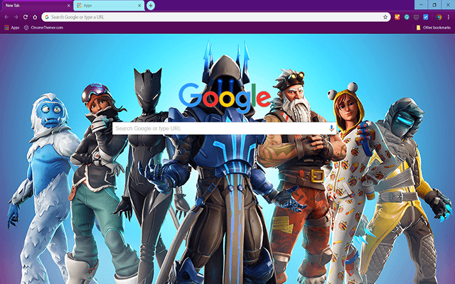 Fortnite Battle Ready - Google Homepage