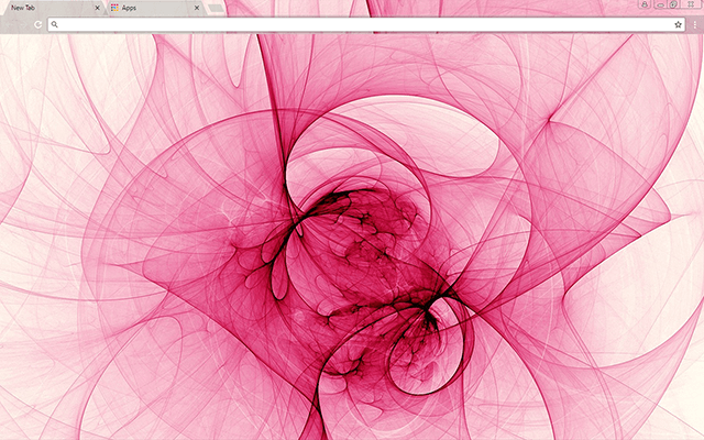 Fractal Rose Google Chrome Theme