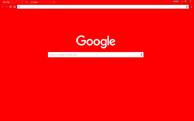 Glowing Red Google Chrome Theme