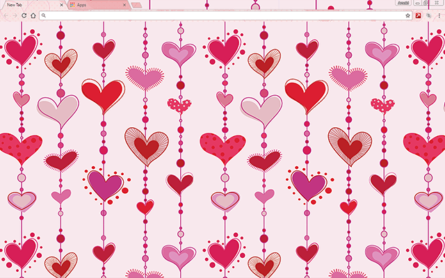 Hearts In Love - HD Background