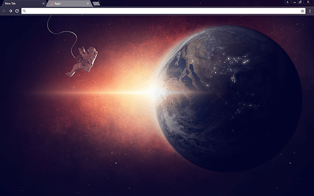 lone space google chrome theme for download