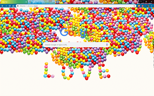 Love Candy - Google Homepage