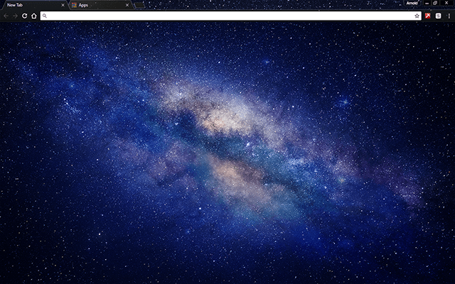 milky way galaxy google chrome theme for download