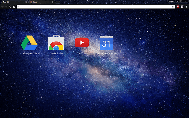 Milky Way Galaxy Google Chrome Theme