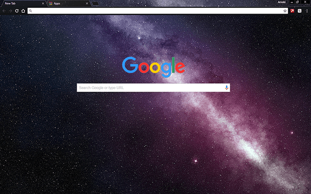 Milky Way Stars - Google Homepage
