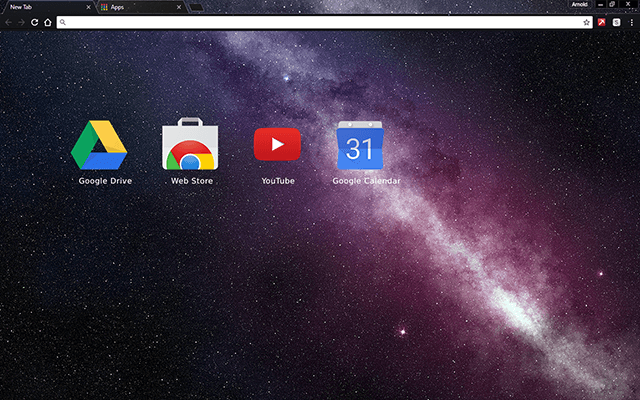 Milky Way Stars Google Chrome Theme