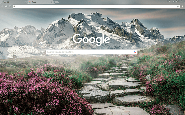 Mountain Landscape - Google Homepage
