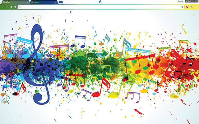 Musical Colors Google Chrome Theme