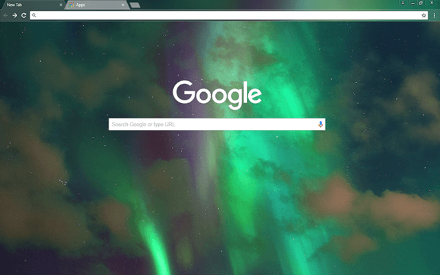 Northern Lights - Google Homepage