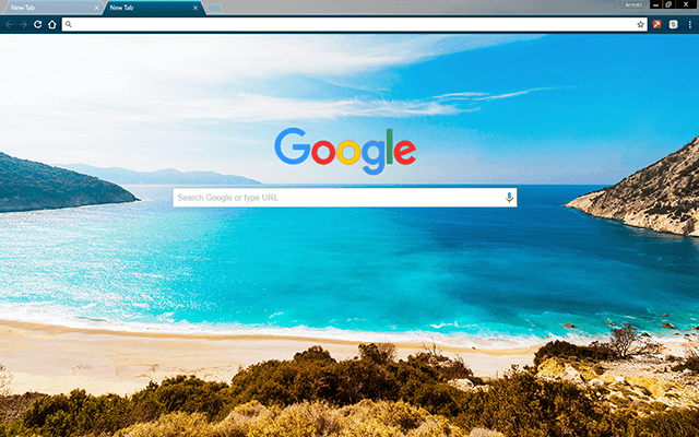 Ocean Coast Google Chrome Theme