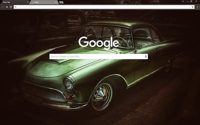 Custom Old Timer Car Google Chrome Theme
