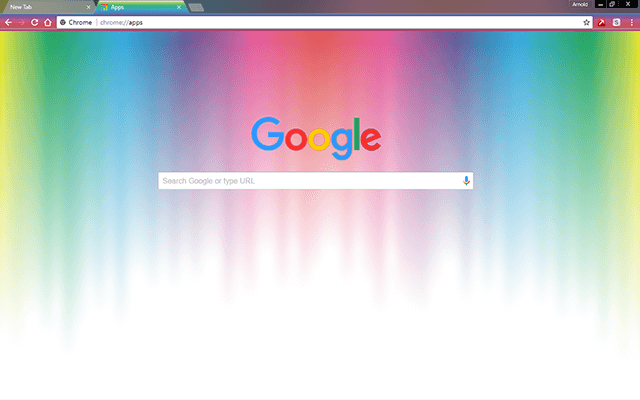 Custom Rainbow Colors Google Chrome Theme