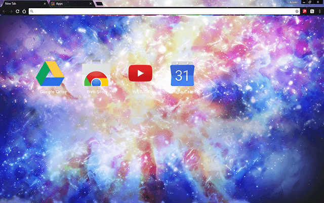 Rainbow Galaxy Google Chrome Theme