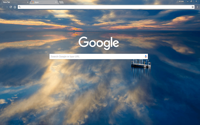 Reflective Water - Google Homepage