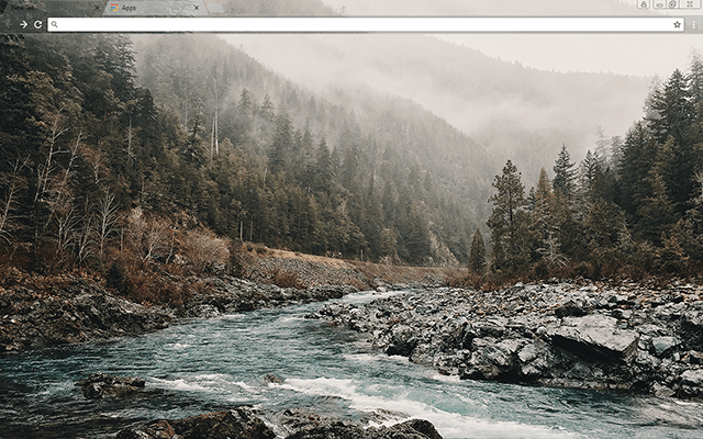River Man Google Chrome Theme