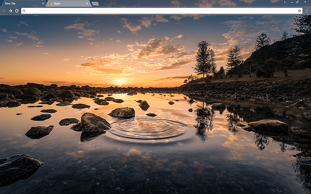 River Pond Google Chrome Theme