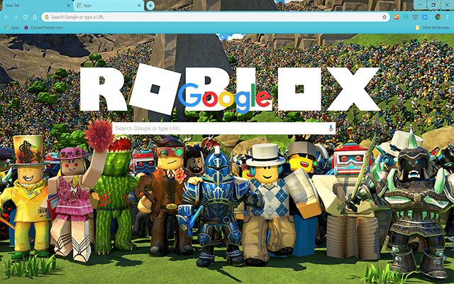 Roblox Skins Chrome - Custom Roblox Gamer Google Chrome Theme