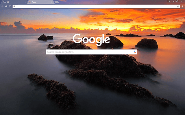 Sea Scape - Google Homepage